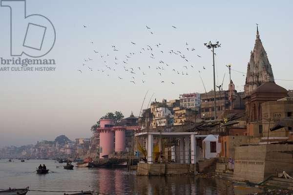 The ghats of Varanasi, Varanasi, Inde