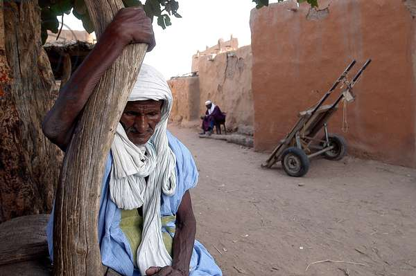 Farmer who lost his crop to locusts, Boully, Mauritanie
