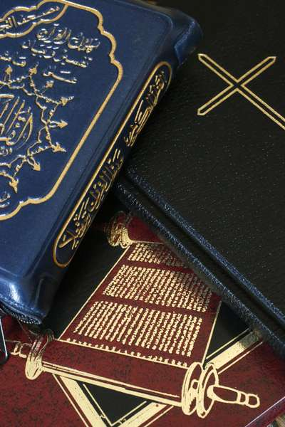 Torah, Bible and Quran. Interfaith.