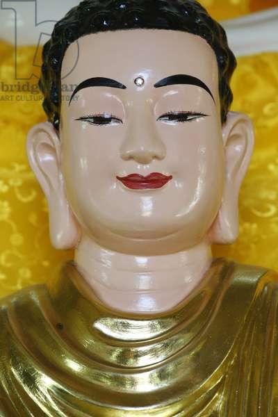 Tu An Buddhist temple. Buddha statue, Saint-Pierre-en- Faucigny, France