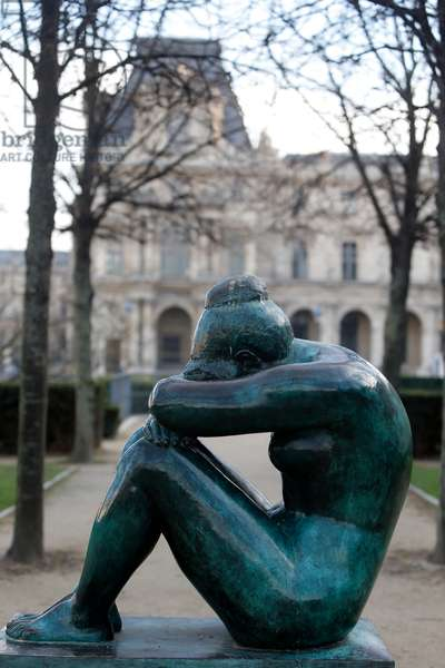 Jardin des tuileries, Aristide Maillol, La Nuit, Paris, France (photo)