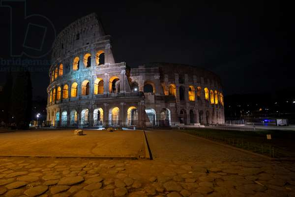 The Colosseum, Rome as Italy shut all stores except pharmacies and food shops in a desperate bid to halt the spread of the coronavirus in the country, 2020 (photo)