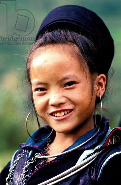 Hmong girl in Sapa region, North Vietnam, SAPA, Vietnam