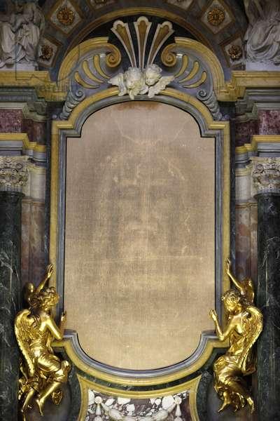 Shroud of Turin in Chiesa della SSAnnunziata, Turin, Italy