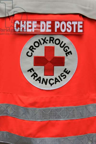 France, Seine-et-Marne, Provins : Crewmember rescuer, French Red Cross