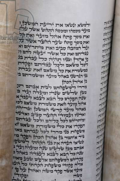 Torah scroll., Jerusalem, Israel