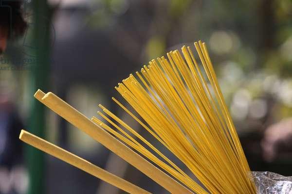 Po Lin Monastery. Incense sticks Tung Chung China