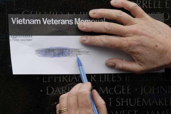 Vietnam veteran memorial, Washington, Etats-Unis