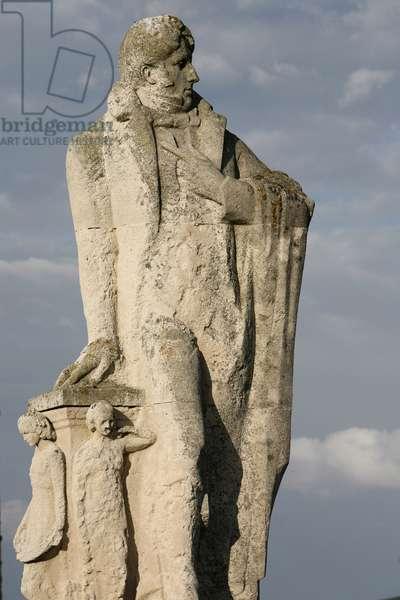 Statue of Francois Rene de Chateaubriand (1768-1848), Saint-Malo, France