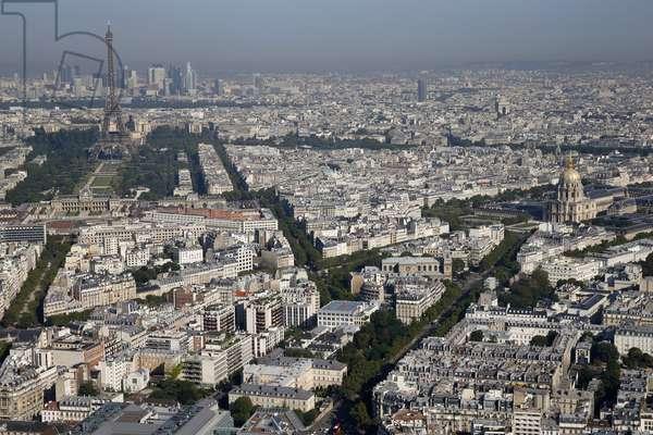 Paris city, Aerial view, Paris, France