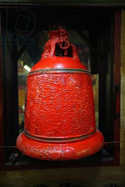 Pau Kong Temple. Bell Macau China