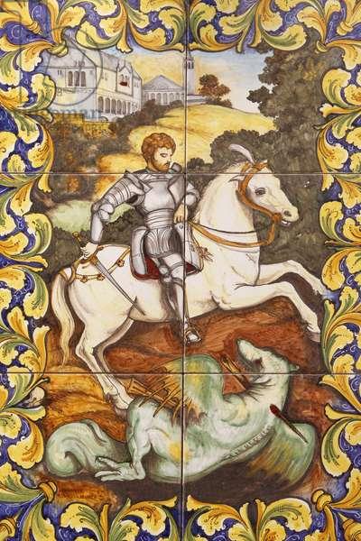 Saint-George slaying the dragon, , Malte