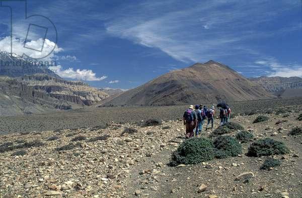 Trekking on the Kagbeni plateau - Nepal