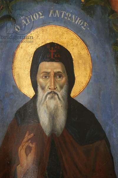 St. Anthony icon, 20150507, Nicosia, Cyprus