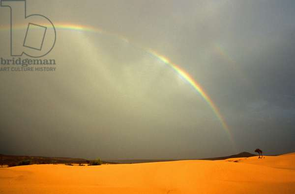 Rainbow in Eklewa area, Adrar highlands MAURITANIE