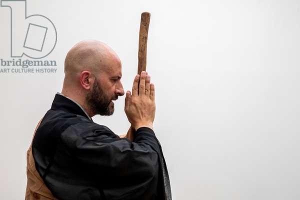 Zen master in Paris, France. (photo)