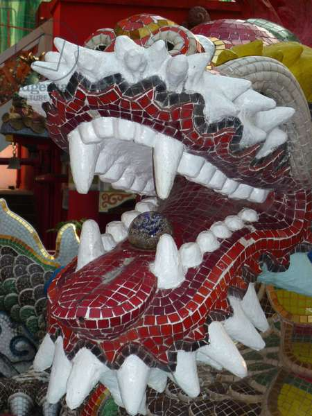Dragon head in the Life Guard Club, Repulse Bay, HONG KONG, CHINE