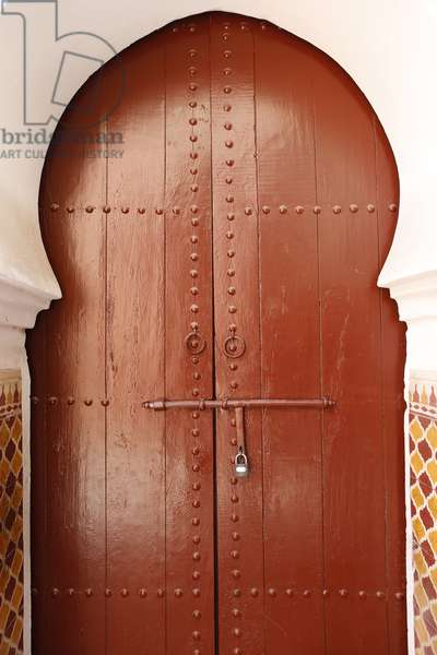 Decorated arched door, Marrakech, Morocco