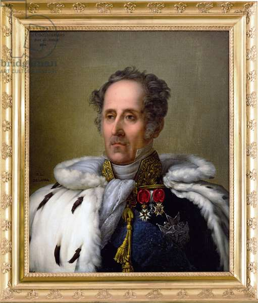 Portrait of Francois Rene (1768-1848) Vicomte de Chateaubriand, 1828 (oil on canvas) by De Laval, Pierre Louis (Delaval) - French 19th-century writer Chateaubriand's house in Chatenay-Malabry, France. Pierre-Louis Delaval, Chateaubriand en costume de pair de France, 1828. Oil on canvas.