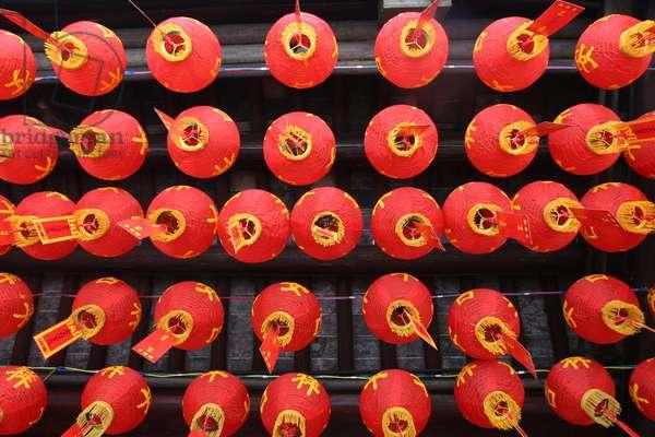 Chinese lamps, Shanghai, China