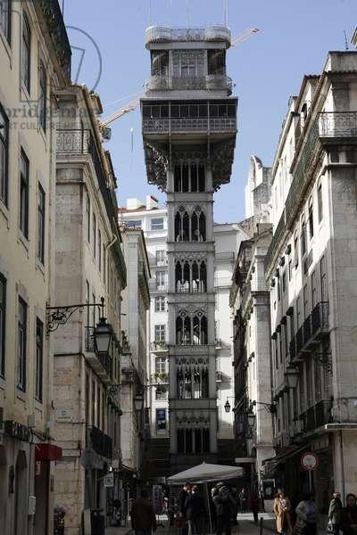 Santa Justa elevator designed by Raoul Mesnier du Ponsard LISBONNE Portugal