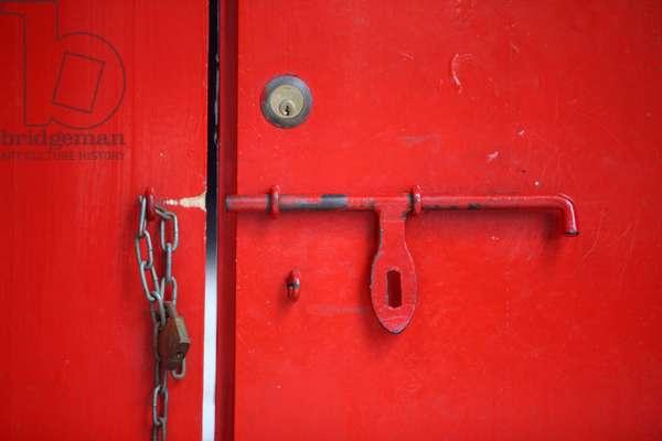 Tin Hau Temple. Door. Hong Kong China