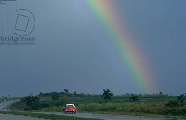 Rainbow on the a road, La Havane, Cuba