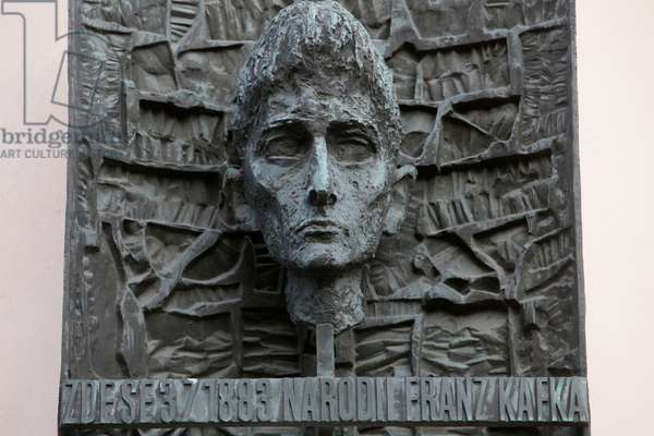 Statue of Franz Kafka Placed in Front of his Native House ; Prague Czech Republic