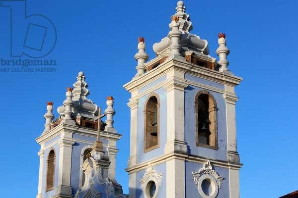 Brazil, Bahia, Salvador : Rosario dos Pretos church in Pelourinh