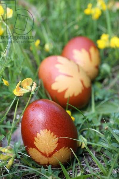 Easter eggs. Saint-Gervais France