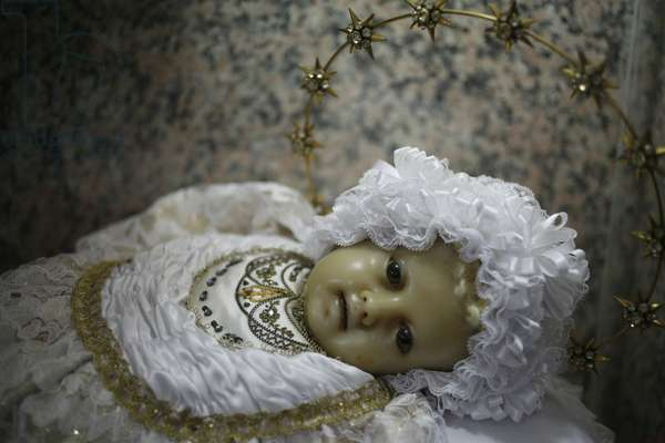 the Virgin Mary as a child in Saint Francois-Xavier chapel in Coloane, MACAO, CHINE