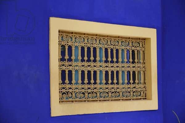 Majorelle Gardens, Window, Marrakech, Morocco