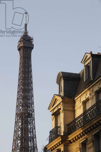 Eiffel tower and building, Paris, France