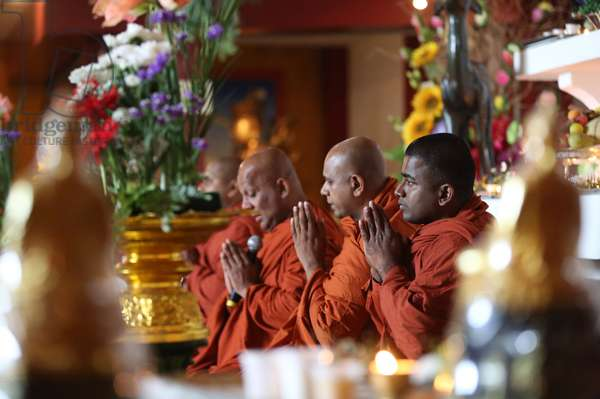 Buddhist monks, Paris, France