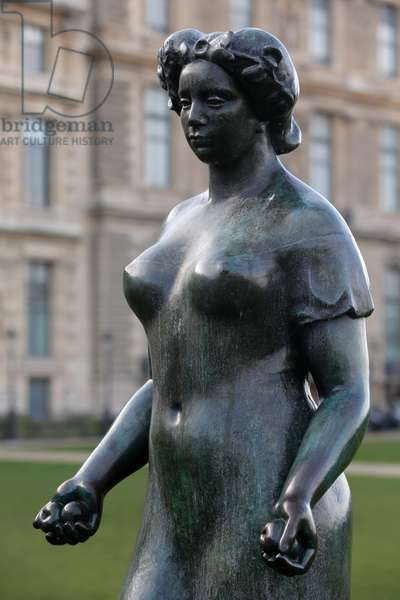 Jardin des tuileries, Aristide Maillol, Pomone drapee, 1921, Bronze, Paris, France (photo)