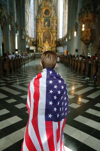 Young American at World Youth Days in Koln, Cologne, Germany
