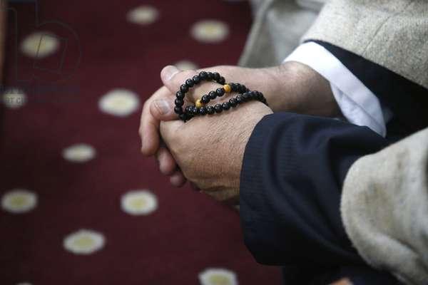 20150507, Nicosia, Northern Cyprus Northern Cyprus Northern Cyprus : Urs of Mawlana Cheikh Muhammad Nazim Adil al-Haqqani in Selimye mosque in Nicosia, Cyprus. Cheikh Mustapha's prayer beads