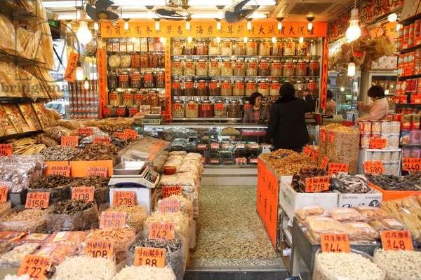 Traditional Chinese Pharmacy. Hong Kong China