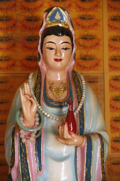 Tu An Buddhist temple, Quan Am bodhisattva of compassion or goddess of Mercy, Saint-Pierre-en-Faucigny, France