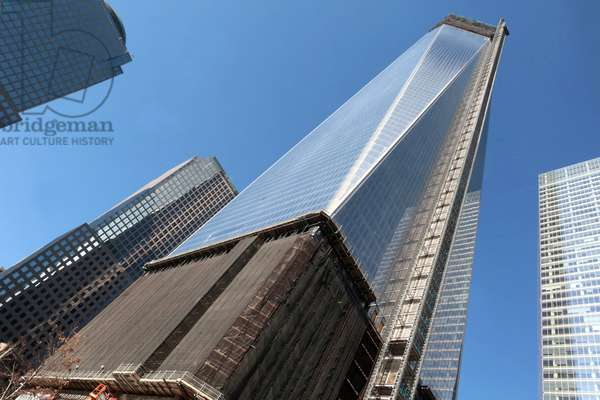 One World Trade Center. Ground Zero. Freedom Tower construction site, New York, United States of America