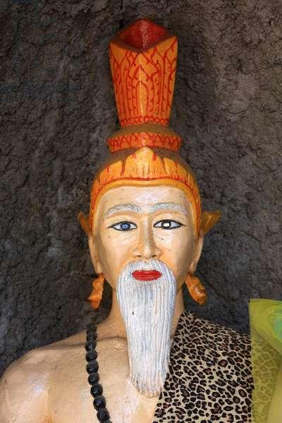 Buddhist deity. Wat Simuong. Wat Si Muang. Vientiane. Laos, 20151029, Vientiane, Laos