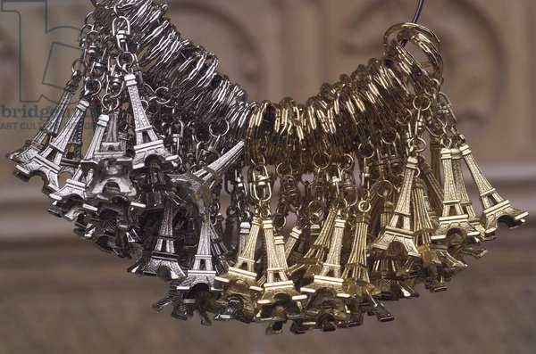 Paris Eiffel tower souvenirs Paris France