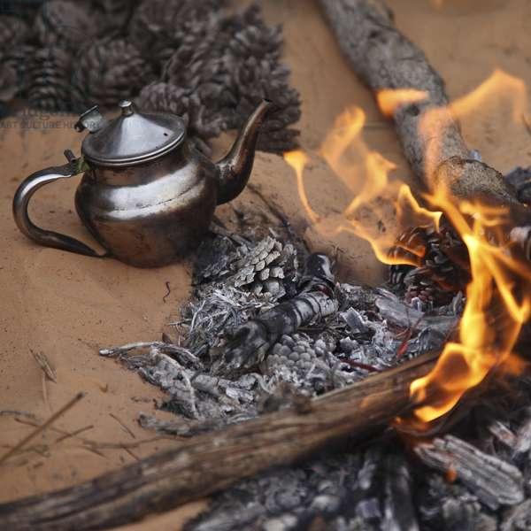 Teapot and fire, Tunisia