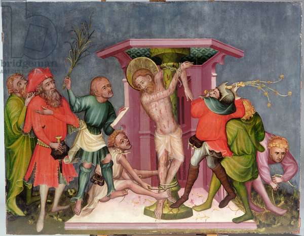 The Flagellation of Christ, from Nuremberg, c.1400-10 (painted wood)
