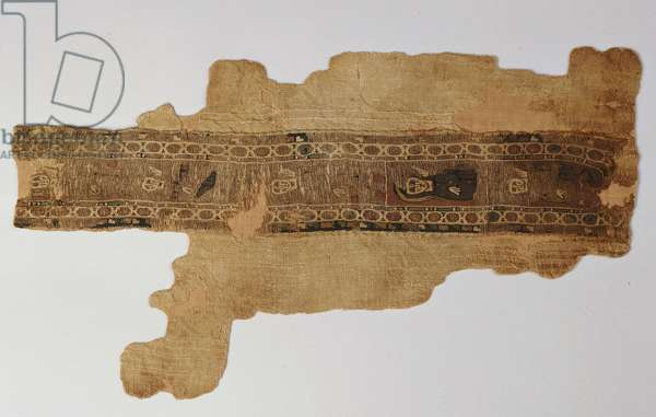 Tunic fragment with an ornamental strip (linen)