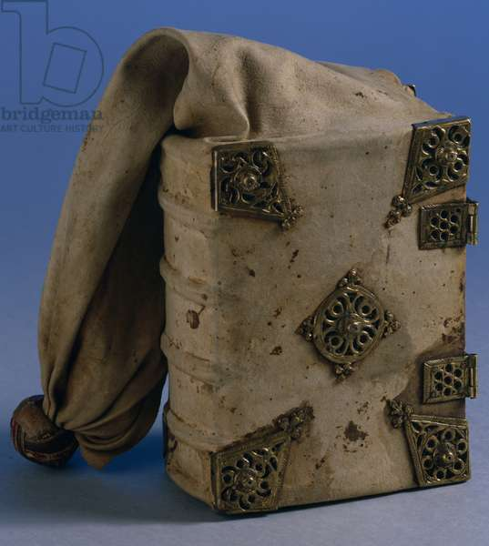Book bag, Nuernberg, 1471 (suede with brass detail)