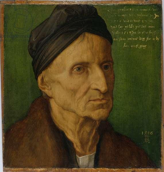 Portrait of Nuremberger Painter Michael Wolgemut, 1516 (oil on panel)