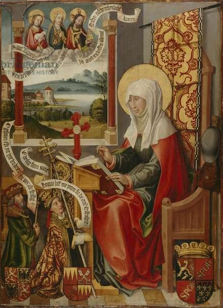 St. Brigit Writing Down her Revelations, c. 1505 (oil on panel)