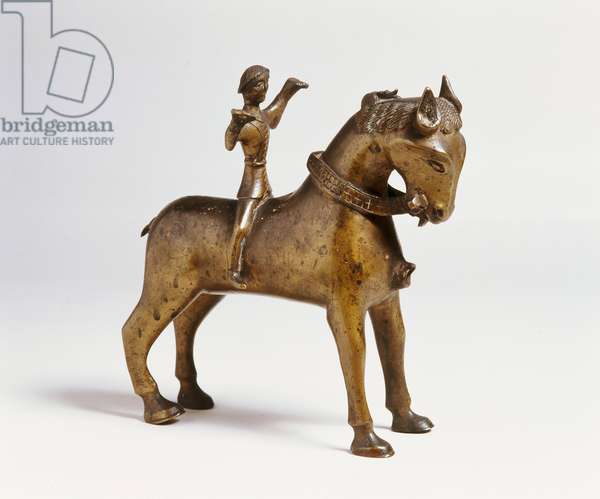 Aquamanile in the shape of a horse, from Nuremberg (bronze)