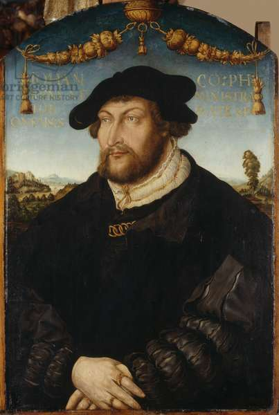 Portrait of Count Palatine Johann III. Administrator of Regensburger Diocese, c.1526 (oil on panel)